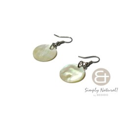 MOP Shell Round 20 mm Earrings
