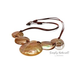 Brown Lip Shell Necklace