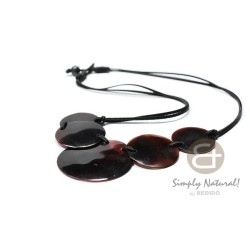 Black Tab Shell Necklace