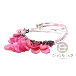 Cleopatra Necklace Pink...