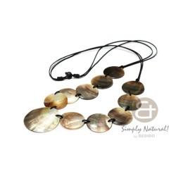 Long Necklace Black Lip Shell