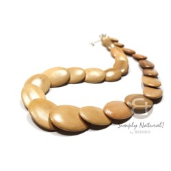 Overlapping Oval Wood Beads...