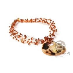 Copper Wire Choker Brown...