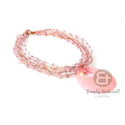 Copper Wire Choker Pink...