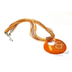 Amber Colored Necklace